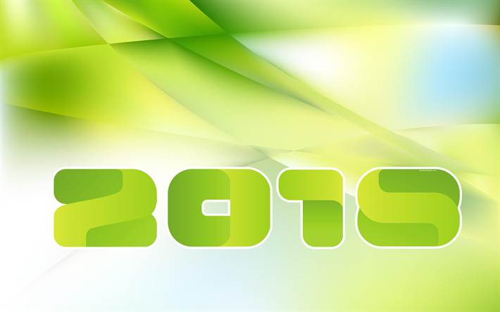 Download Wallpapers 2018 Year, 4k, Green New Year Background, Green  Abstraction, New