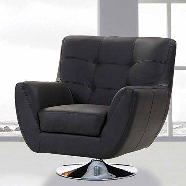 Merveilleux Creative Images International Swivel Accent Chair   Black