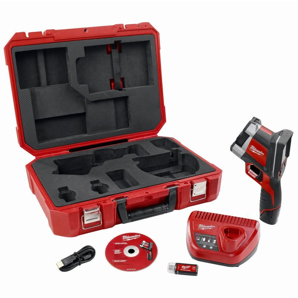 Milwaukee m volt lithiumion cordless thermal imager kit