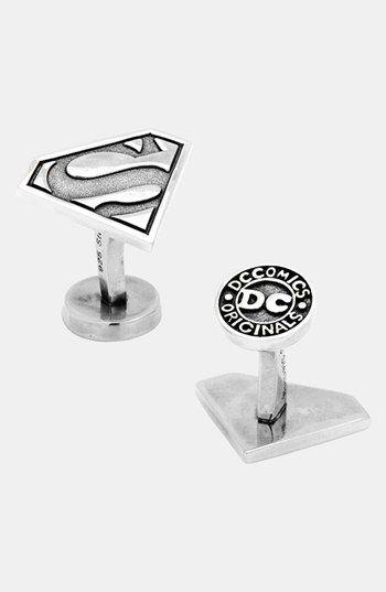 Superman Cufflinks Mens Retro Movie Cuff links Superhero Novelty Groomsman Cufflink Fathers Day Anniversary Wedding Jewelry Gifts for him