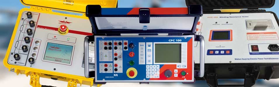 Winding resistance test equipment is available in a variety