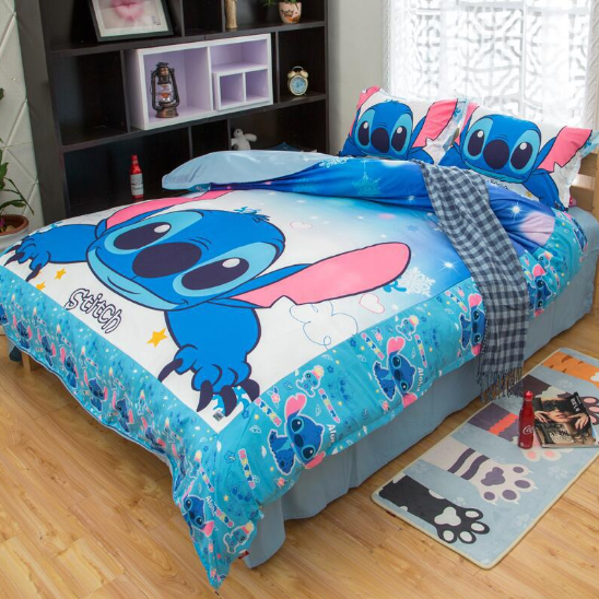 Yes Please Lilo And Stitch Bed Fitted Sheet Set Twin St13 3