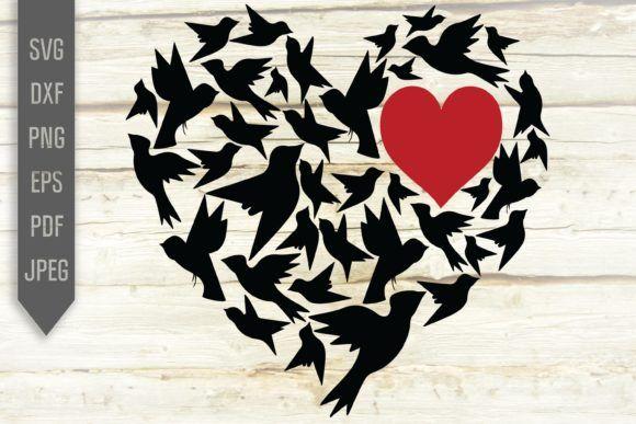 Download Love Birds In Heart Svg Valentine Crafts