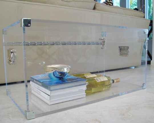 Lucite Trunk Coffee Table By Serge De Troyer Coffee Table Trunk