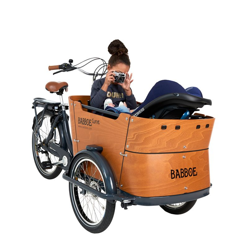 Das Moderne Elektrische Lastenfahrrad Mit Drei Radern Babboe E