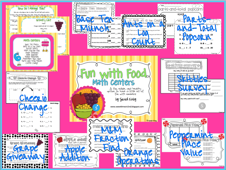 Permanently Primary: Fun with Food math centers...fun stuff for the last week of school!