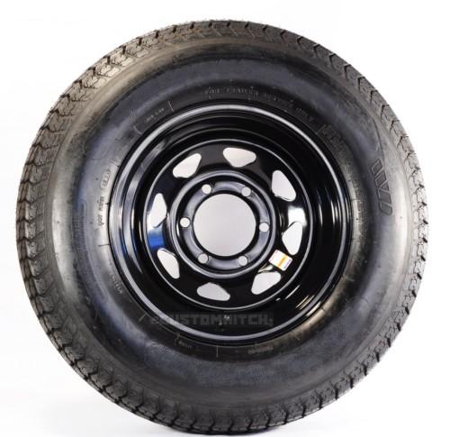 2 Pack Towmax Trailer Tires Rims St225 75r15e 6l 2830 15x6 6 5 5 Spoke Black Trailer Tires Travel Trailer Tires Goodyear Tires