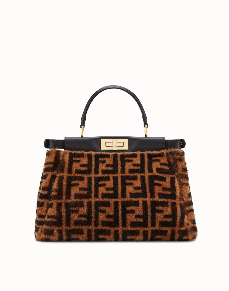 55f5320492 Peekaboo regular | BAGS. | Fendi, Bags, Brown
