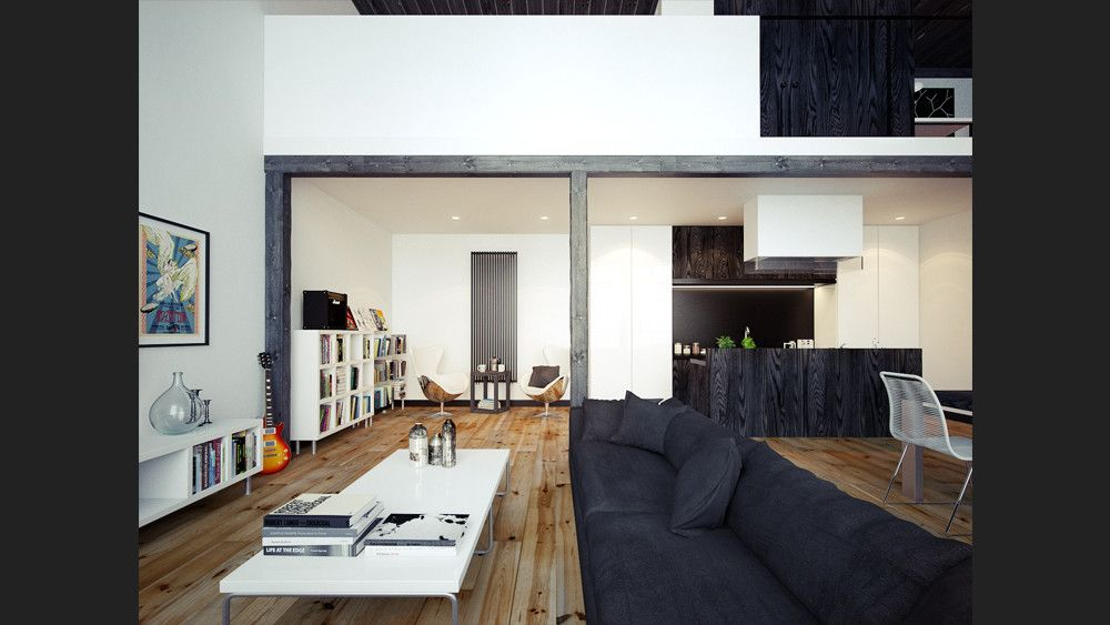 Studio Loft Black Always The Dramatic Hue To Use In Any Decor Ebony Wood Compliments Light Grain Living E Beyond Kitchen