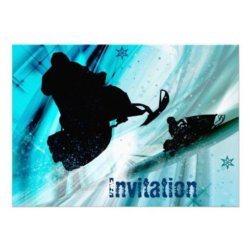 Snowmobiling Invitations