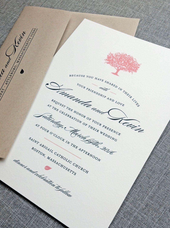 NEW Amanda Coral Tree Wedding Invitation Sample by CricketPrinting ...