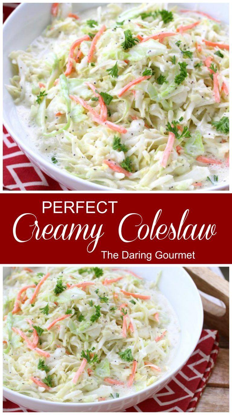 Perfect Creamy Coleslaw Recipe Creamy Coleslaw Coleslaw Vegetable Recipes