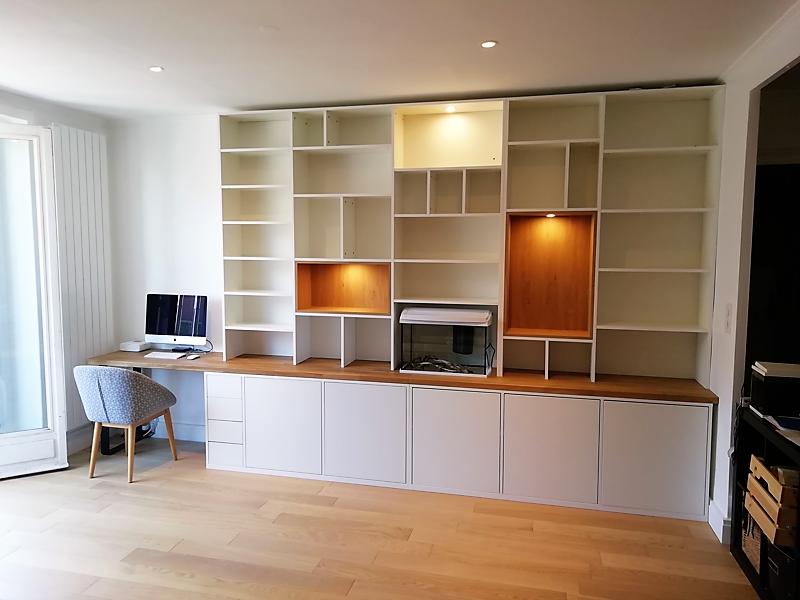 Bibliotheque Sur Mesure Recherche Google In 2020 Home Library Rooms Dining Room Shelves Home Decor