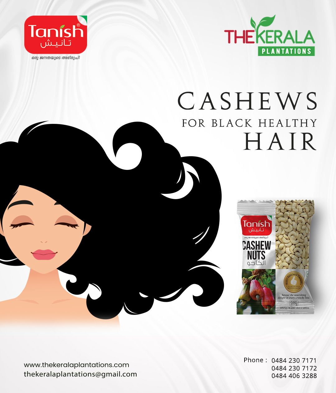 Eating Cashew can make your hair black and healthy. Tanish
