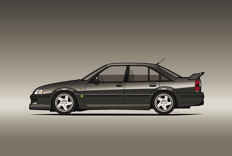Opel Lotus Omega Vauxhall Lotus Carlton Type 104 Digital Art By Monkey Crisis On Mars Vauxhall Opel Automotive Artwork