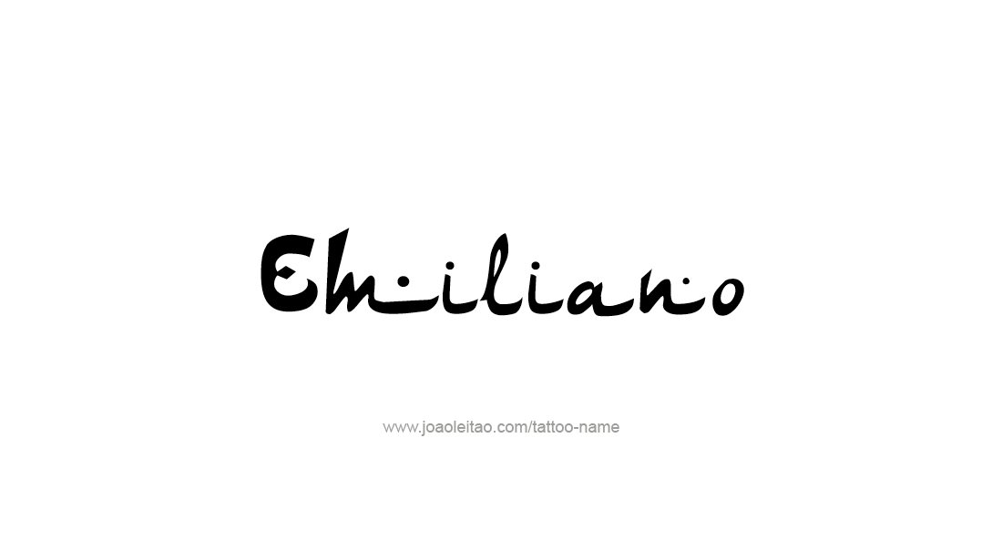 Emiliano Name Tattoo Designs