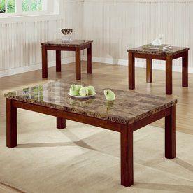 Coaster Fine Furniture 3 Piece Cherry Accent Table Set 700305