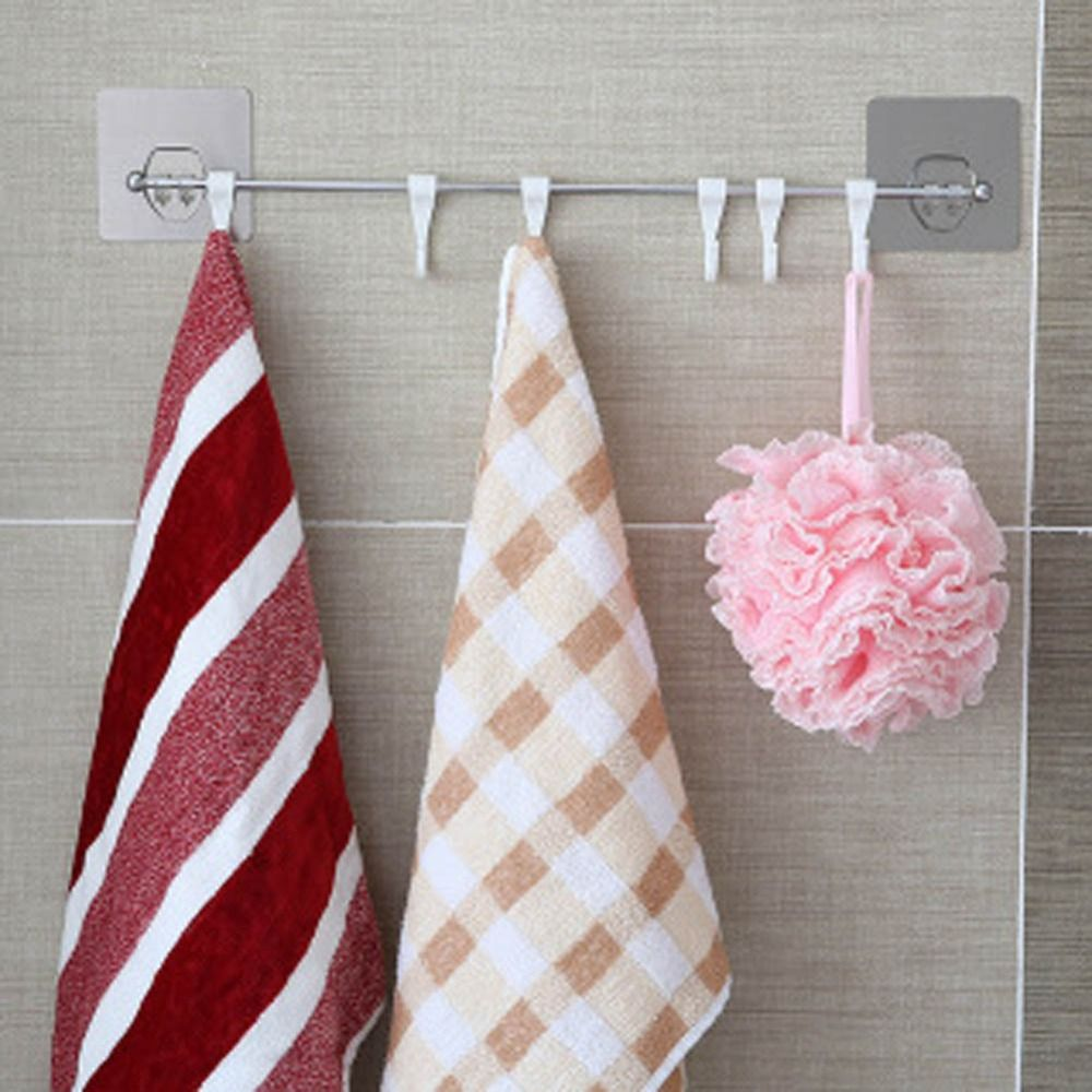 Cheap Holder Towel, Buy Quality Holder Toilet Directly From China Holder  Kitchen Suppliers: 6 Hooks Bathroom Kitchen Shelf Double Suction Cup  Storage Rack ...