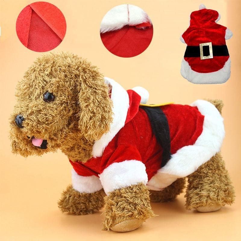 Christmas Dog Santa Costume Dog Christmas Clothes Christmas Dog