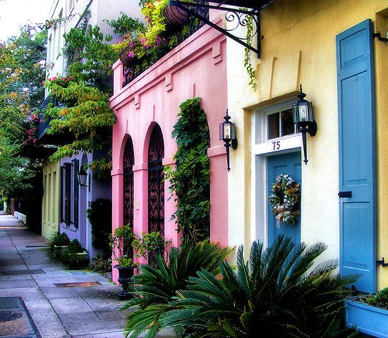 Rainbow Row...Charleston, SC....love!!