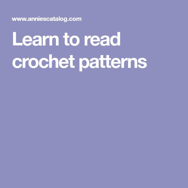 Learn To Read Crochet Patterns Crochet Pinterest Crochet Bead