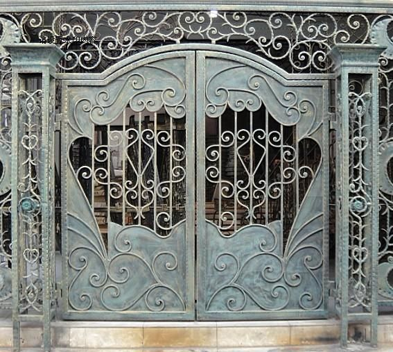 Wrought iron door entry door gate entry door -inDoors from Home . & Security Gates Doors Promotion-Online Shopping for Promotional ...