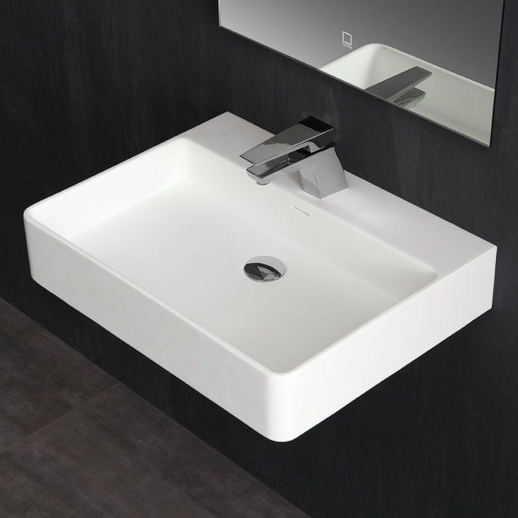 Badezimmer StoneArt Waschtisch LP6206 weiß/60x46cm/glänzend Bäder