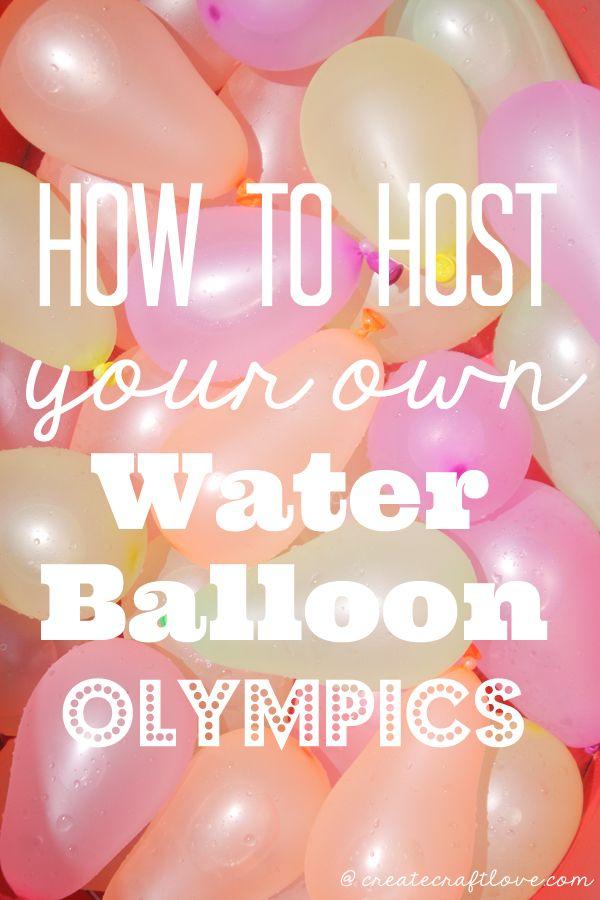 Water Balloon Olympics Outdoor Yard GamesBackyard