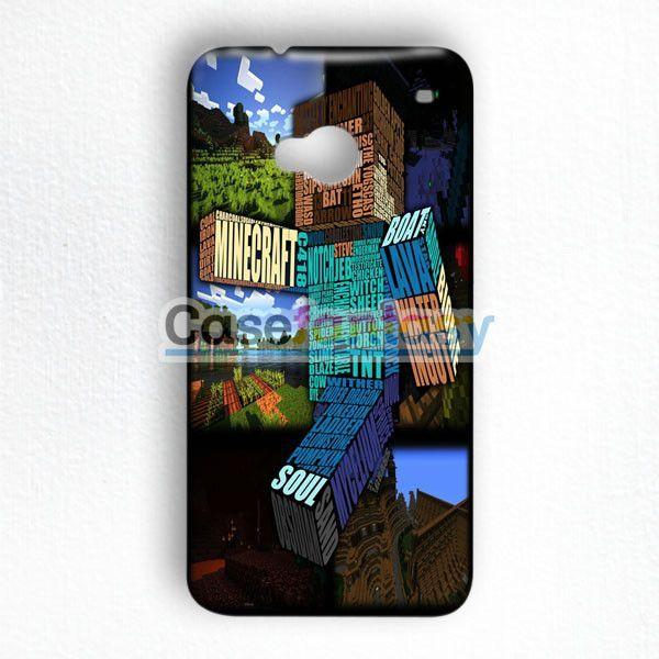 Minecraft Steve Typograpghy HTC One M7 Case | casefantasy