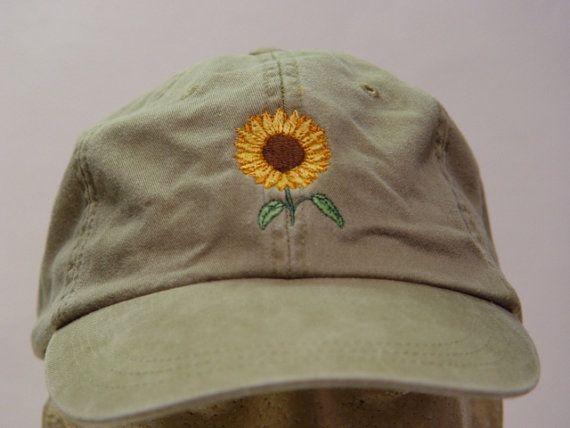 Sunflower Hat One Embroidered Women Men Fall Garden