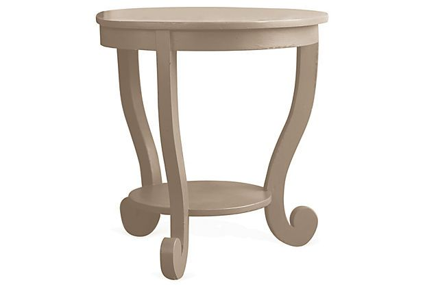 Small Annie Occasional Table, Beige On OneKingsLane.com