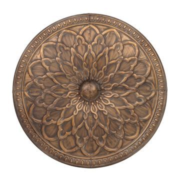 Kirklands Wall Decor Metal antique gold floral medallion metal tile | wrought iron, walls and