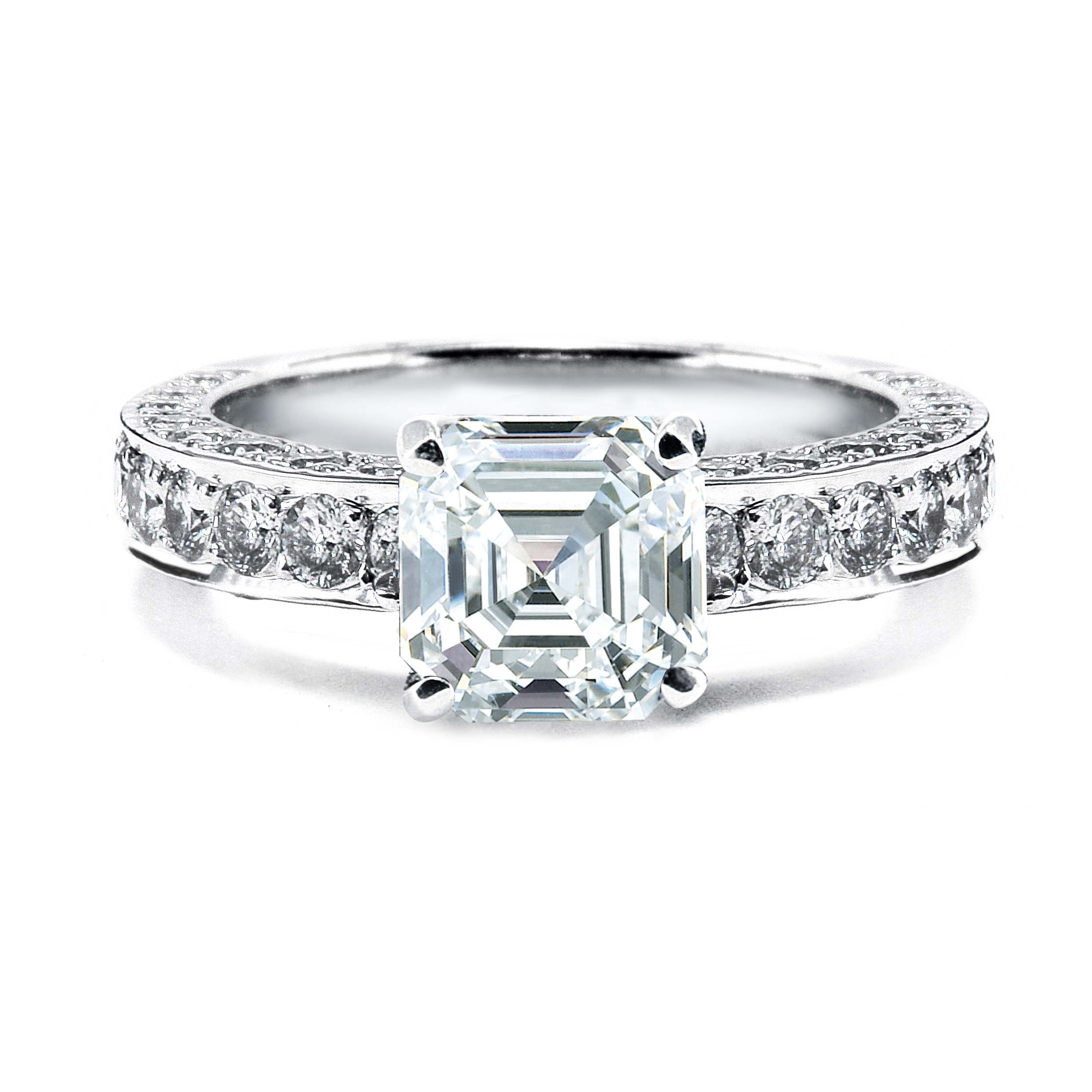 engagement jewellery ring cut diamond asscher halo ritani square rings radiant