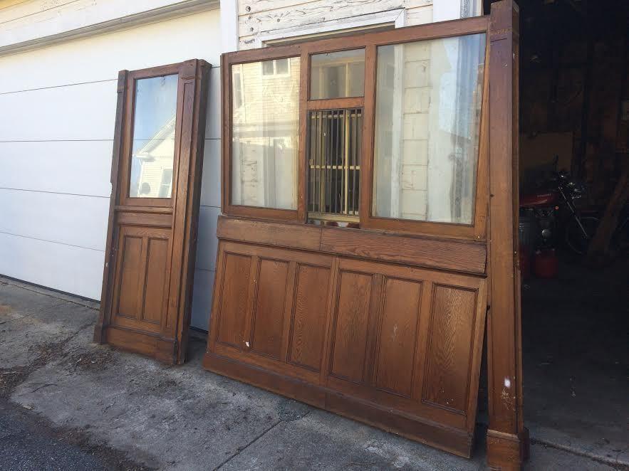 window Vintage bank teller