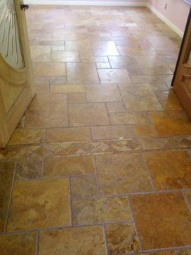 Really Nice Travertine Floor Using Our Scabos Brushed