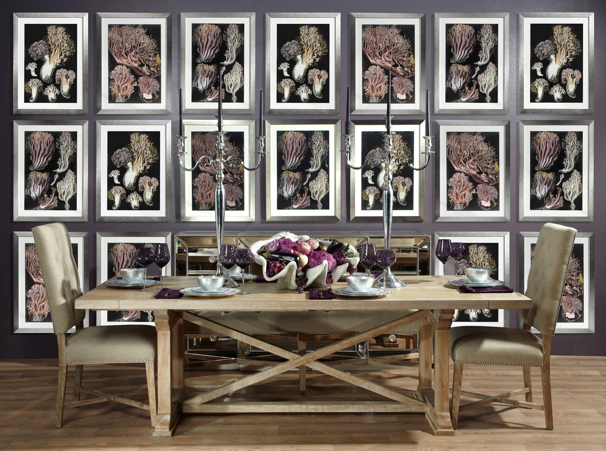zgallerie | Don't you love Z Gallerie's aubergine coral artwork?