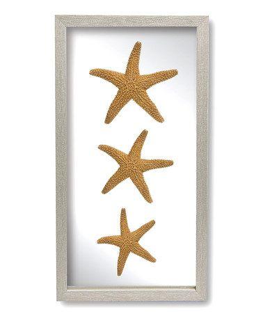 Three Sugar Starfish Wall Decor Starfish Wall Decor Framed Wall Art Wall Decor