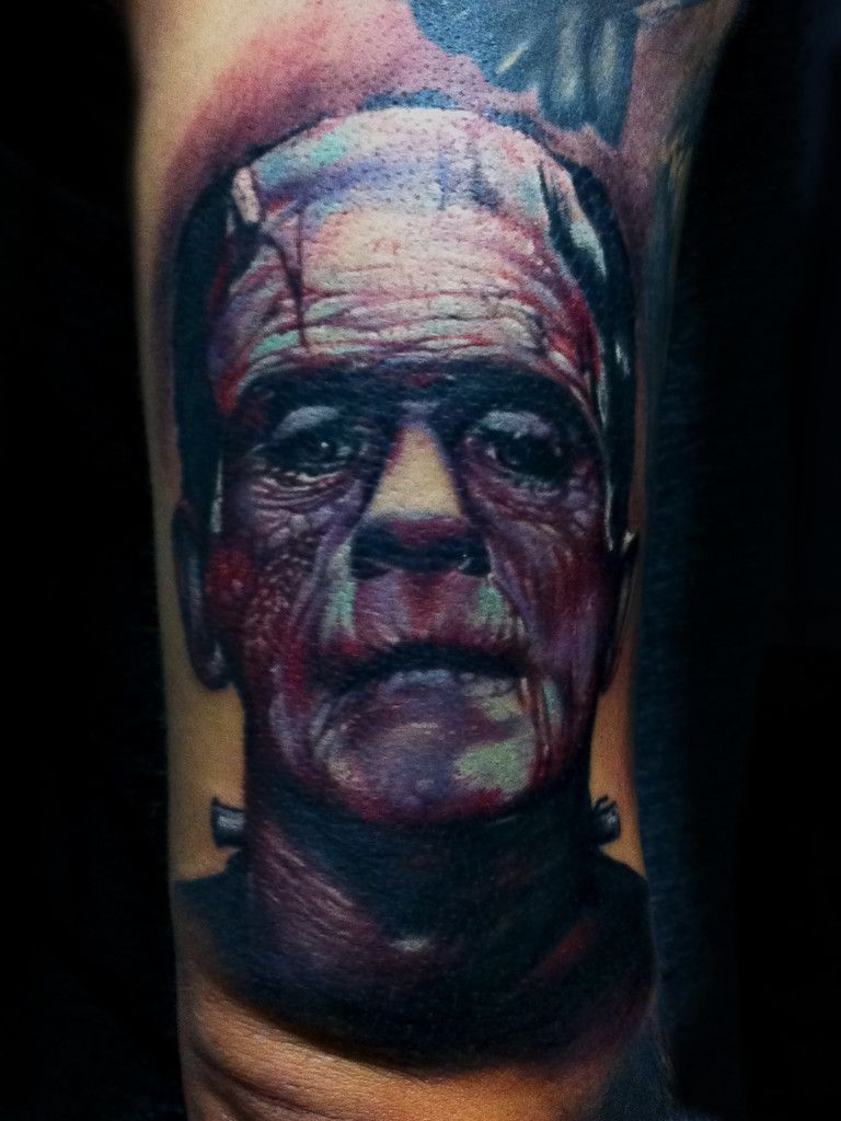 Bili vegas frankenstein tattoo portrait tattoo worlds