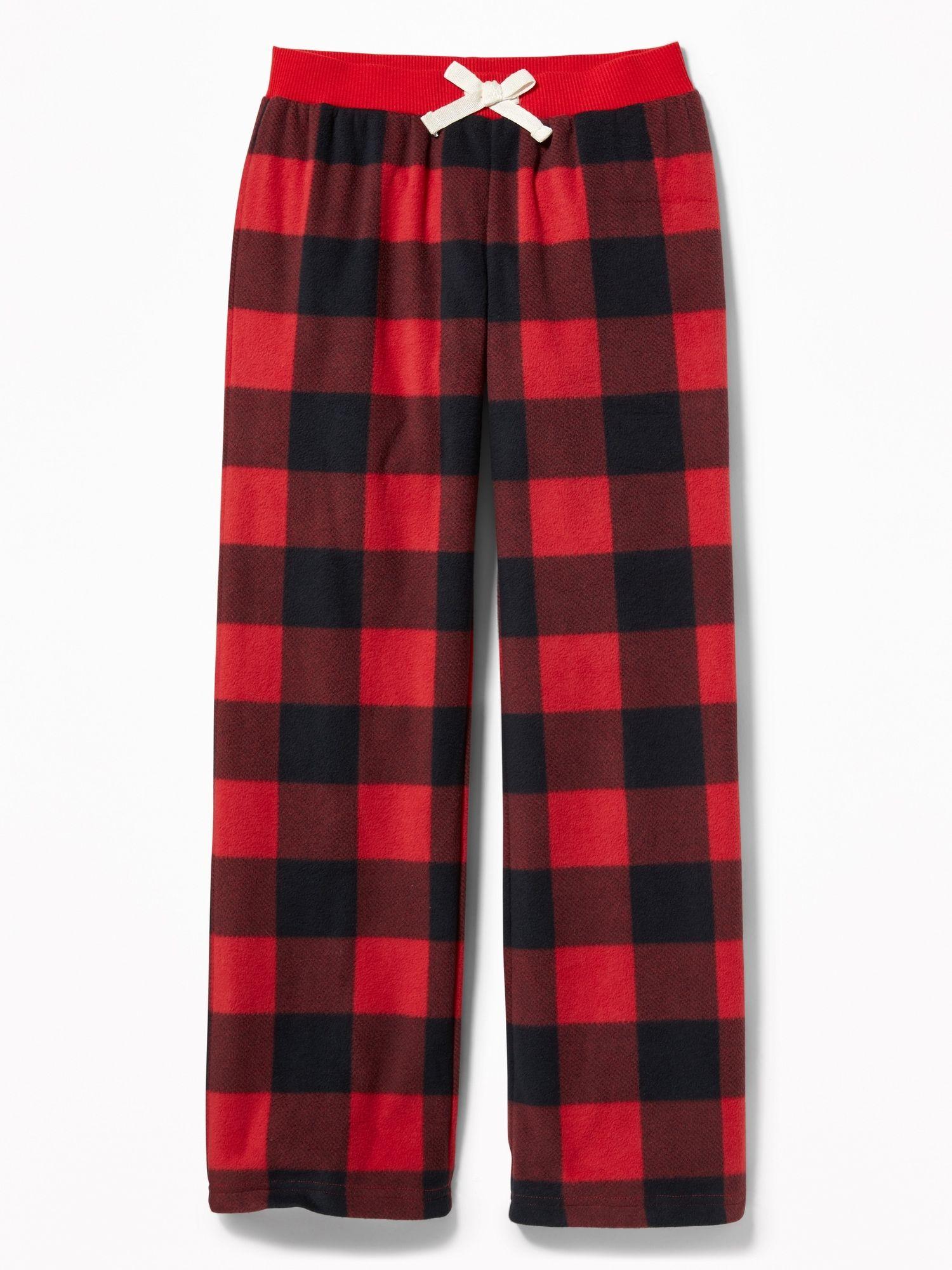 Patterned Micro Performance Fleece Sleep Pants for Girls   Old Navy ...