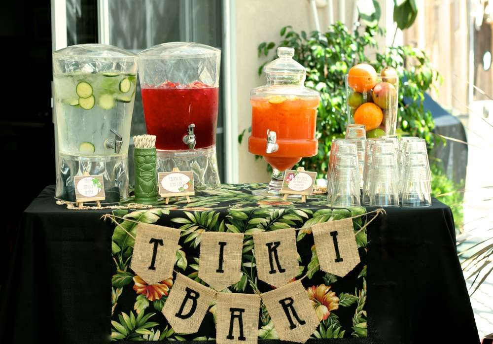 hawaiian luau bridalwedding shower party ideas photo 19 of 25 catch my party