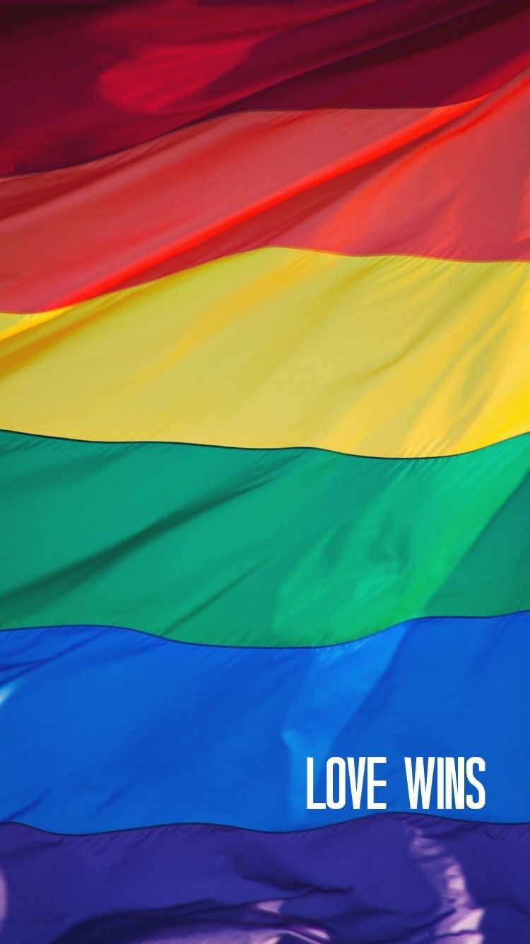 Holding Hands Double Couple Flag Of Rainbow Colours Waving Union Gay Pride  Wallpaper Standing Stronger Symbolic Peoples