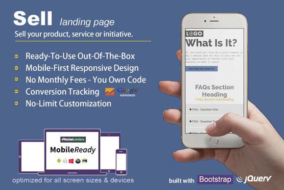 Sell - Landing Page by rocketlanders on @creativework247 | Website ...