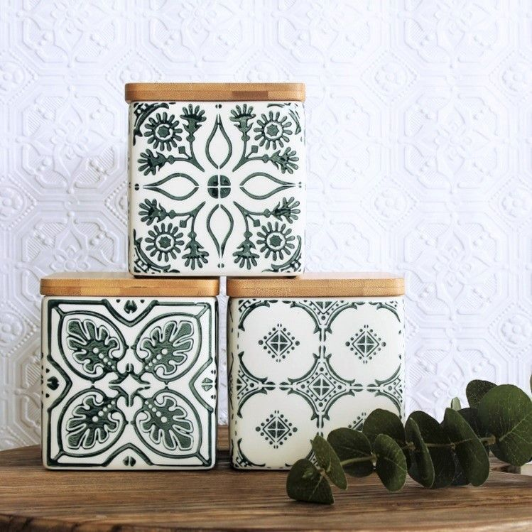 Another New Ladelle Canister Set And This One Is My Favourite Mystic Emerald Maisieandclare Canisters Home Decor Online Home Decor Decorative Boxes