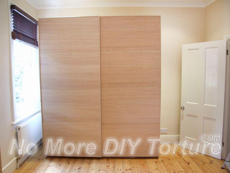 ikea pax hasvik sliding doors for the basement (With