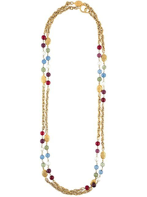 Chanel Vintage double strand beaded necklace