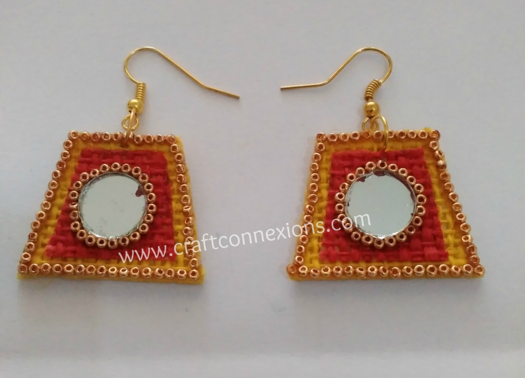 Handmade Jewellery making Tutorial – Yellow and red color jute ...