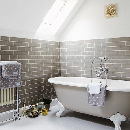 Charmant Neutral Bathroom With Metro Tiles | Small Space Bathroom Ideas | Bathroom |  PHOTO GALLERY