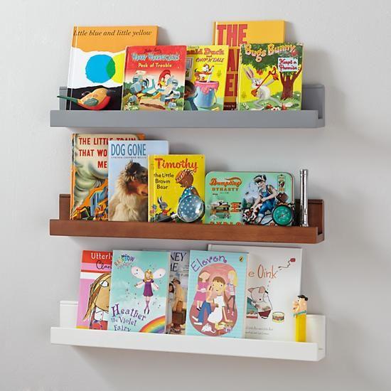 Playroom Kids Wall Racks Wooden Book Ledge In