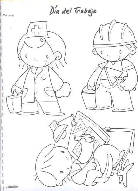 Dia Del Trabajo Dibujos Para Colorear Dibujos De Profesiones Oficios Y Profesiones Profesiones Para Ninos