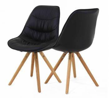 chaise noire design scandinave lotus - Chaise Noire Design